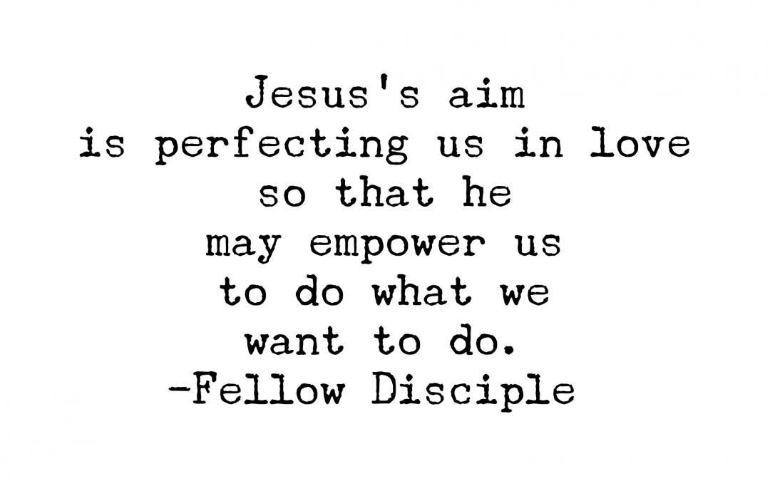 Jesus's Aim