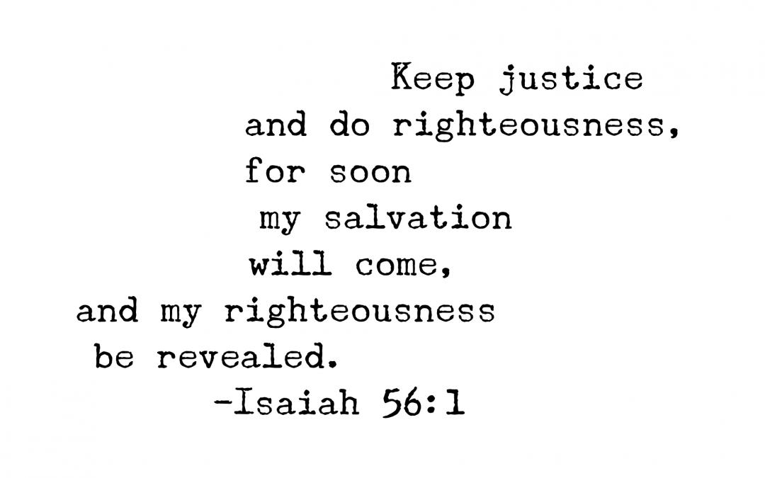 Isaiah 56:1